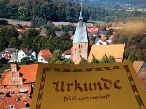 Urkunde-Kirchenlandschaft