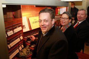 Die Bundestagsabgeordneten Konstantin von Notz, Nina Scheer und Norbert Brackmann machten sich in Berlin erfolgreich stark für die Möllner Orgel.